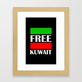 Kuwait Freedom Framed Art Print