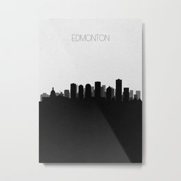 City Skylines: Edmonton Metal Print