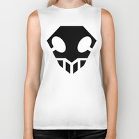 bleach Biker Tanks featuring Bleach Skull 2 by Prince Of Darkness