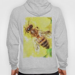 The Pollen Collector Honeybee Watercolor Hoody
