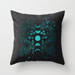 Mysterious Moon Theme Throw Pillow