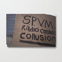 Collusion Metal Print