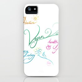 Vegan & happy lifestyle iPhone Case