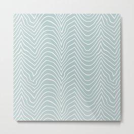wiggly-sea Metal Print