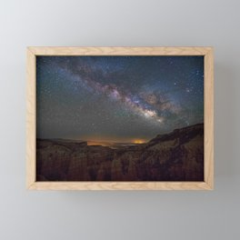 Fairyland Canyon Starry Night Photography Framed Mini Art Print
