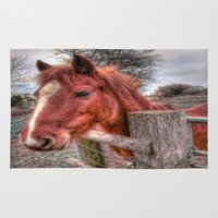 pony Area & Throw Rugs featuring Pony  by Darren Wilkes Fine Art Images