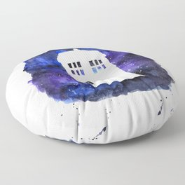On Our Way to Gallifrey Floor Pillow
