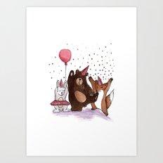 Let's party! Art Print