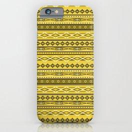Modern Native Navajo Ethnic Tribal - Tuscan Sun Color iPhone Case