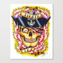 a pirate's life Canvas Print