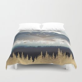 Blue Mountain Mist Duvet Cover