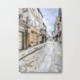 The Shambles York Snow Art Metal Print