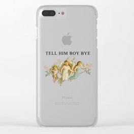 BOY, BYE Clear iPhone Case