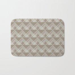 Modern Simple Geometric 5 in Taupe Bath Mat