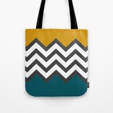 Color Blocked Chevron Tote Bag