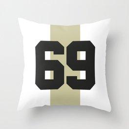 69 race Throw Pillow