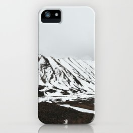 Beautiful Sky and Snow capped mountains in leh-ladakh iPhone Case