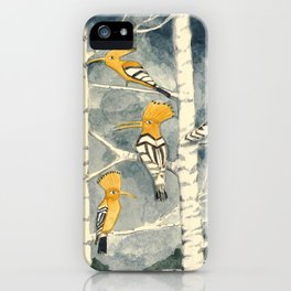 Hoopoes in the forest iPhone Case