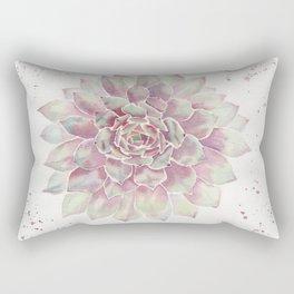 Big Succulent Watercolor Rectangular Pillow