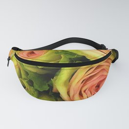 Green & Pink Bouquet Fanny Pack