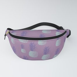 Tropical Pop Art Pineapple Pattern in Purple and Blue Fanny Pack