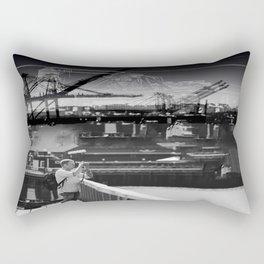 Focused Distraction Rectangular Pillow