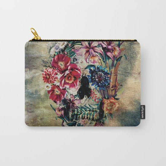 Skull on old grunge II Carry-All Pouch