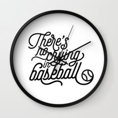 There's No Crying in Baseball Wall Clock