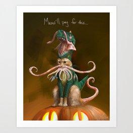 Happy Squittenween! Art Print