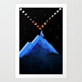 Festival of Moon Art Print