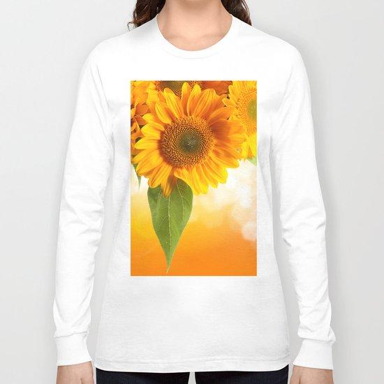 Nice Sunflowers Long Sleeve T-shirt