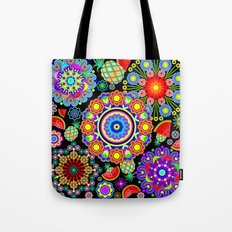 Mandalas & Exotic Fruits Pattern Tote Bag