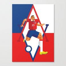 AV23   La Roja Canvas Print