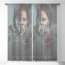 Scream Sheer Curtain