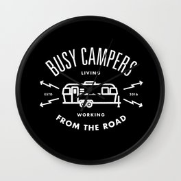 """Busy Campers """"From The Road"""" Wall Clock"""