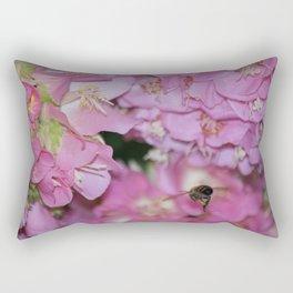 Bee in Flight Rectangular Pillow