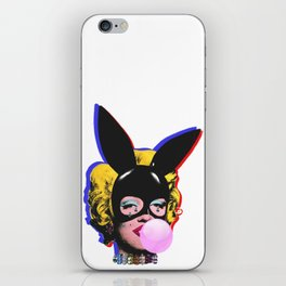 Bunny ears and  Diamond tears iPhone Skin