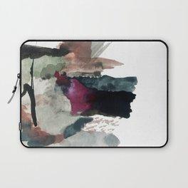 Begin [3]: a minimal abstract mixed media piece Laptop Sleeve