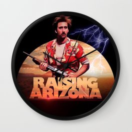 raising arizona Wall Clock
