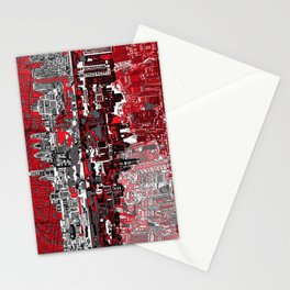 philadelphia city skyline Stationery Cards