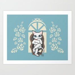 Rattan chair Art Print