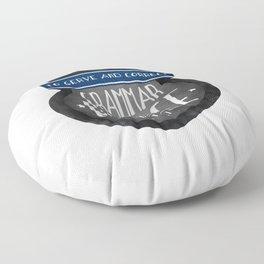 Grammar Police Floor Pillow