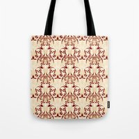 skyrim Tote Bags featuring Celtic Loop White by Astrablink7