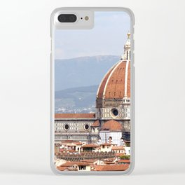 Florence cathedral dome photography Clear iPhone Case