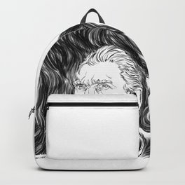 Van Gogh in black Backpack