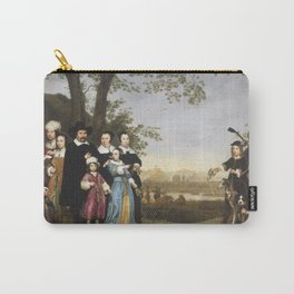 Aelbert Cuyp - Portrait of the Sam Family (1653) Carry-All Pouch