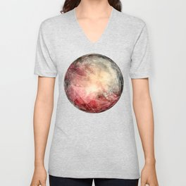 Prismatic Watercolor Planet Warm Unisex V-Neck