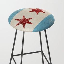 Chicago Flag Bar Stool