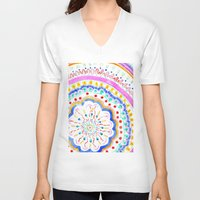 artsy V-neck T-shirts featuring Artsy Fartsy by Peach Preserves
