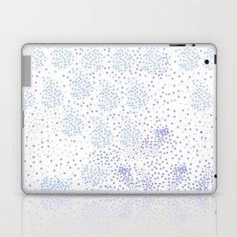 Blue circle on white Laptop & iPad Skin